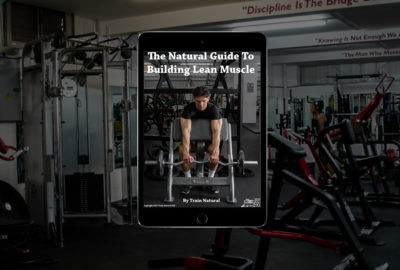 Lean muscle building PDf Ebook on Tablet in gym