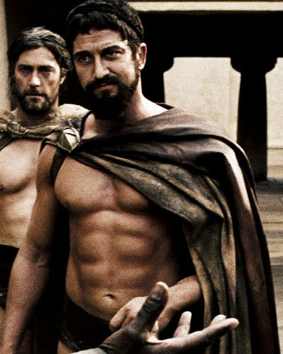 Gerard Butler Workout Muscle Ripped 300 Body Train Natural