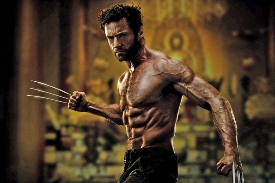 hugh jackman wolverine - ripped muscle workout six pack